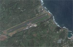 Melville Hall Airport, copyright Google Earth