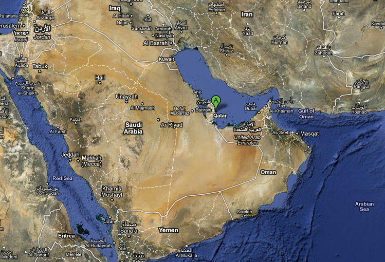 map of qatar doha. Doha, Qatar (courtesy of