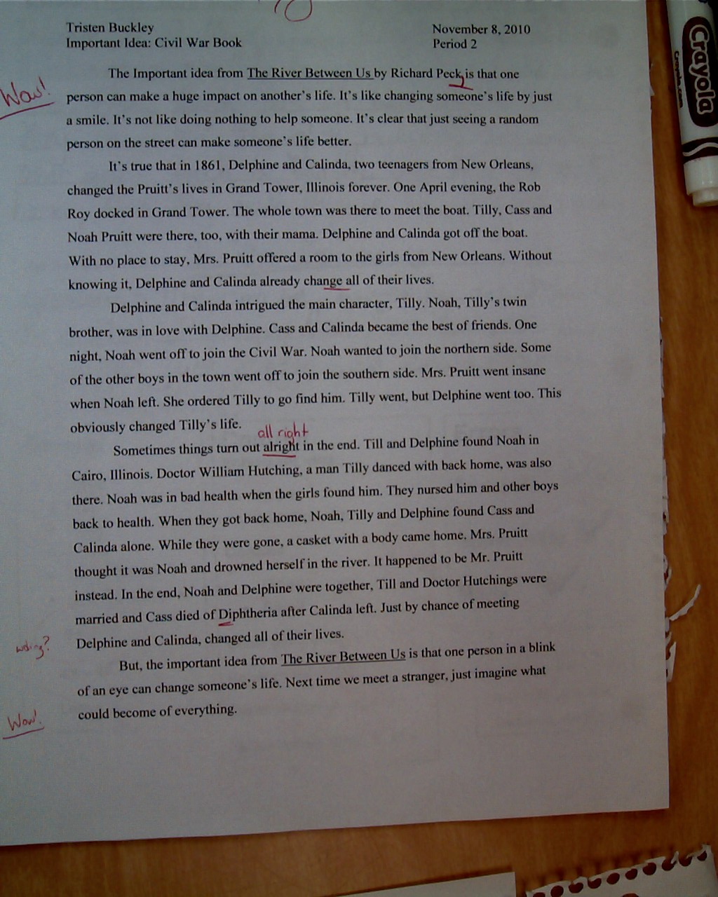 Essay on experience of a flood victim