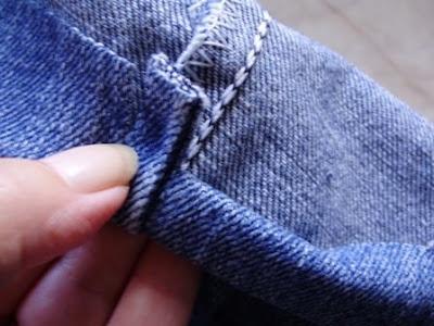 How To Hem Jeans With Original Hem