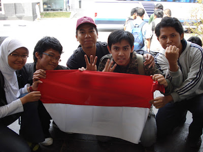 Amazing Race, group 3, with batagor community, in Bandung Paris Van Java, West Java