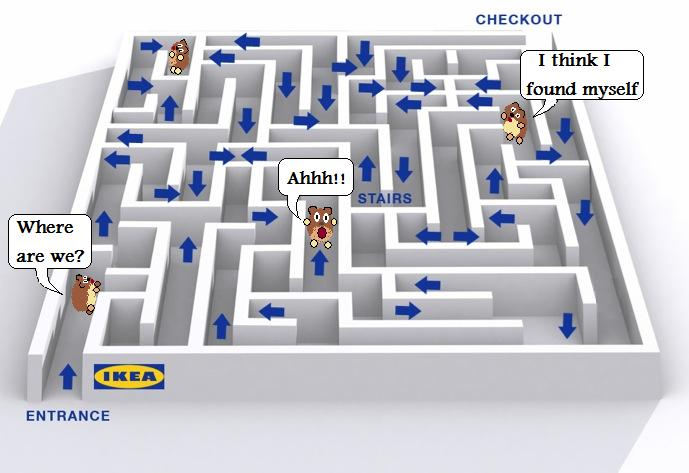 Image result for getting lost at ikea