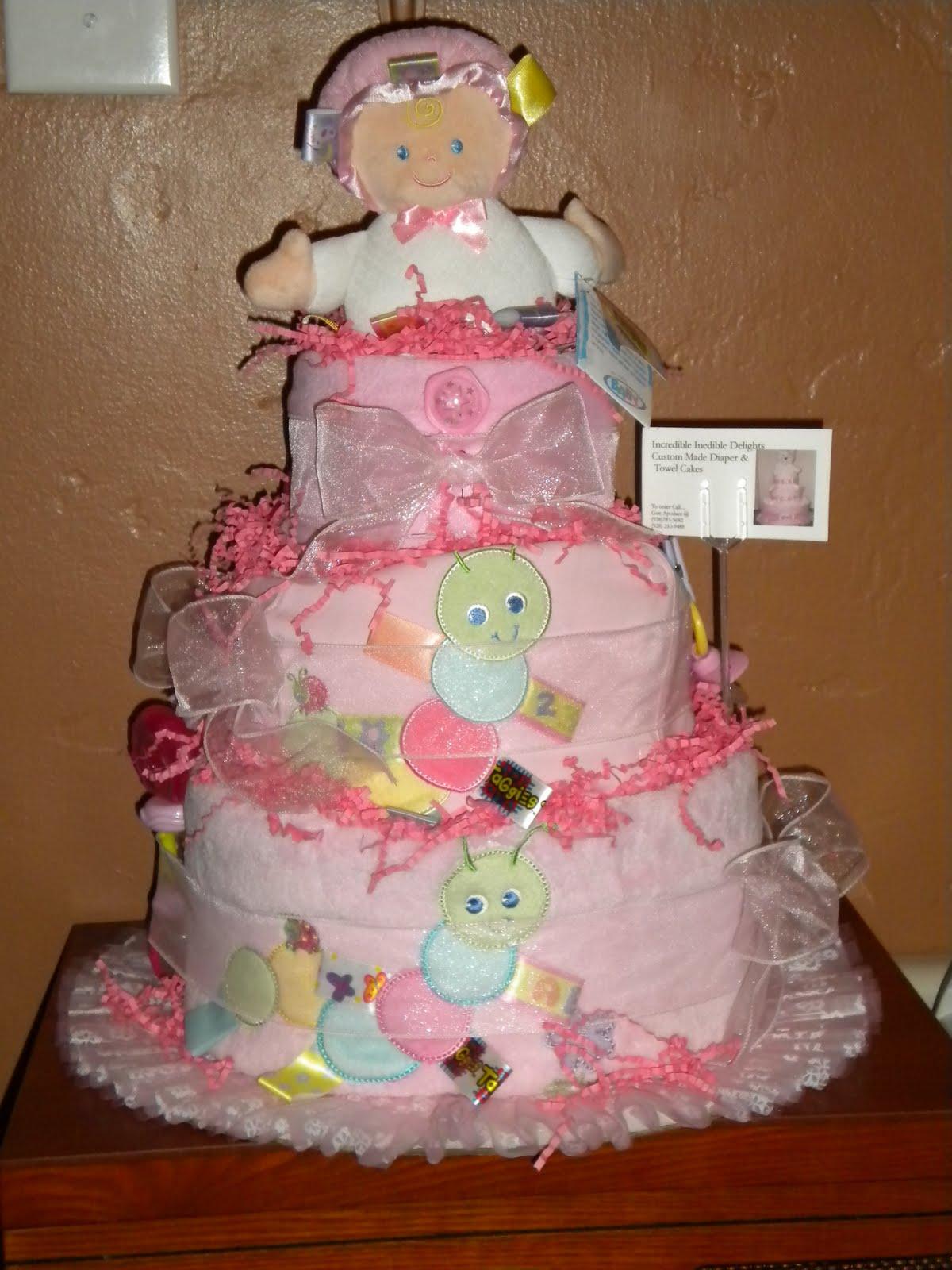 Stunning Homemade Diaper Cakes for Girls 1200 x 1600 · 192 kB · jpeg