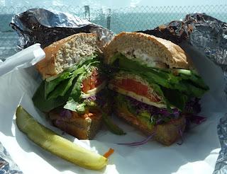 veggie sandwich; Sebastian's; San Simeon