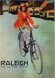 vintage bike poster Raleigh