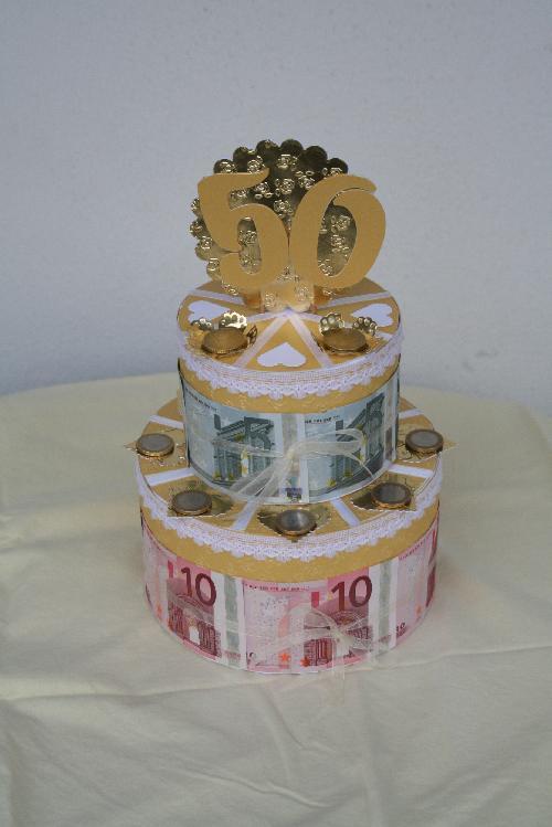Sandra´s Bastelblog: Geldtorte zur Goldenen Hochzeit