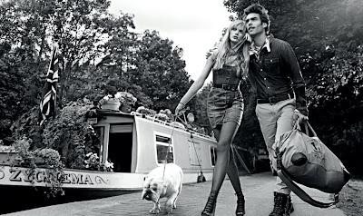 Anna V & Jon Kortajarena X Pepe Jeans London S/S 2011 Ad Campaign