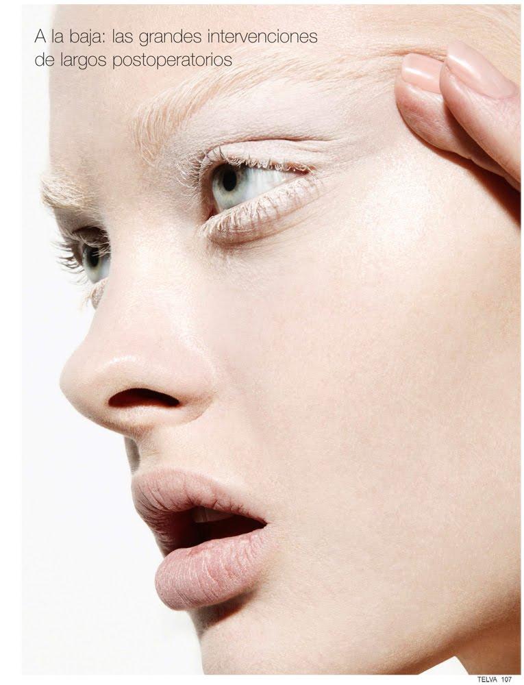 White On White Eyelashes Makeup Pale Skin Editorial Photoshoot Model