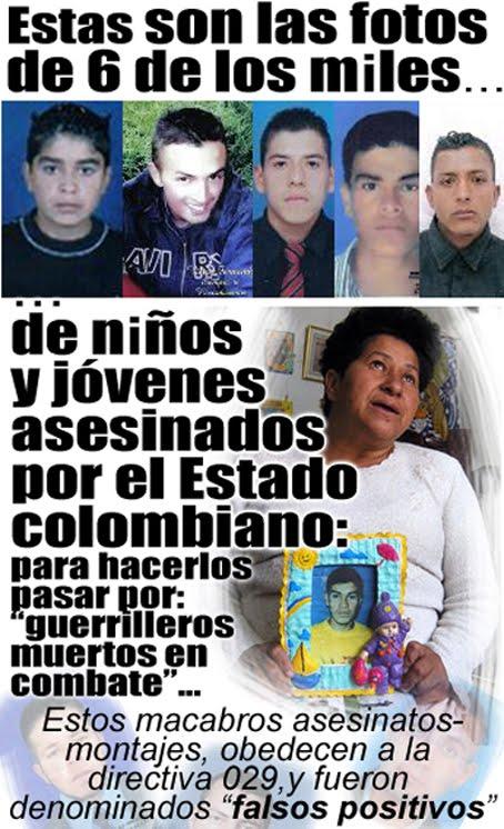 """fotos de 6 niños y jóvenes asesinados por el ejército colombiano para sus """"falsos positivos"""""""
