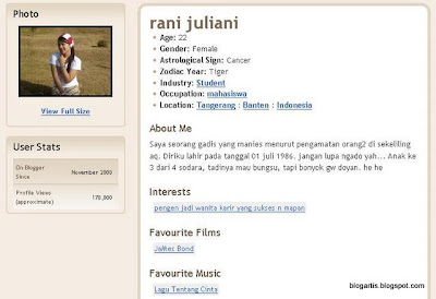 Blog Rani & Profile Juliani