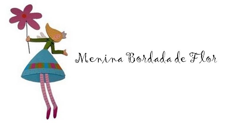 Menina Bordada de Flor