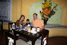 Mateo, Doug & I at dinner