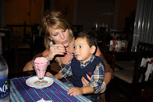 Mateo eating his strawberry ice cream