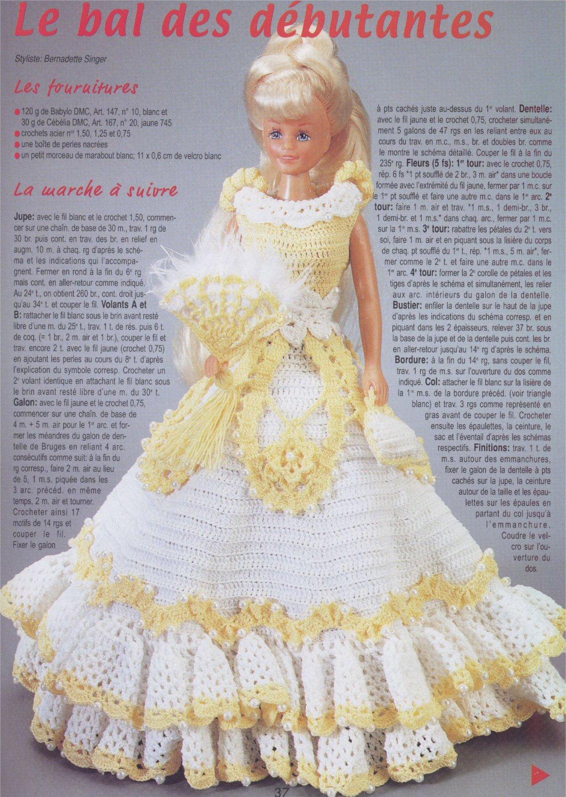 Бальное платье для куклы своими руками. Выкройка - Кукла мастер