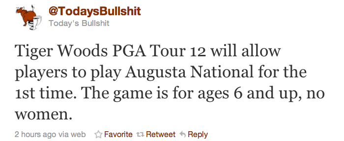Twitterville Responds to Augusta National Joining Tiger Woods 2012