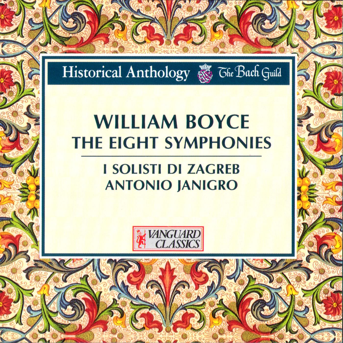 Boyce: The Eight Symphonies - I Solisti di Zagreb, Janigro - jewish ...