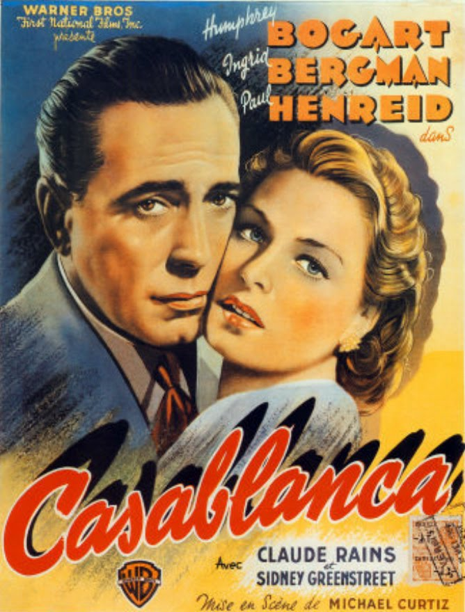 And scene screen gems casablanca 1942 for Poster casablanca