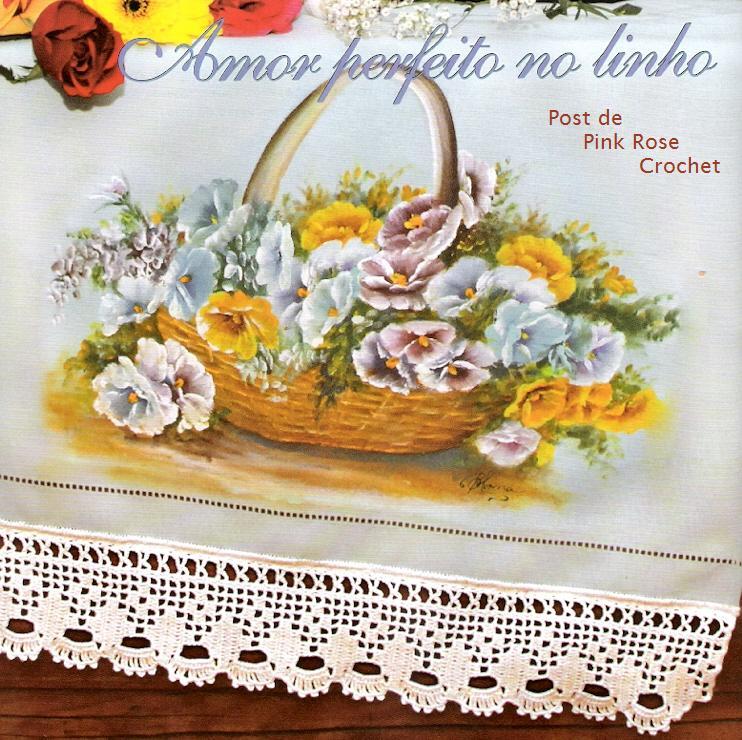 Barrado De Croch   E Pintura Para Toalha
