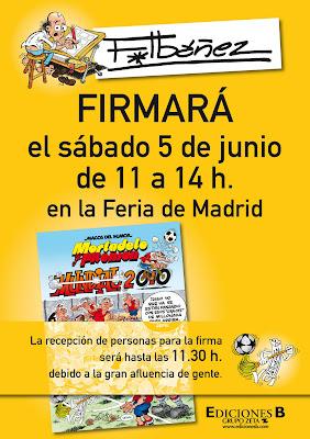 Firmas Francisco Ibáñez - Feria del Libro de Madrid