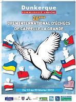 L'affiche officielle du tournoi d'échecs de Cappelle La Grande