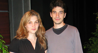 Laurent Fressinet et son épouse Almira Skripchenko au Championnat de France d'échecs 2008 © Chess & Strategy