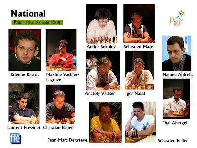 le joueurs d'échecs du National