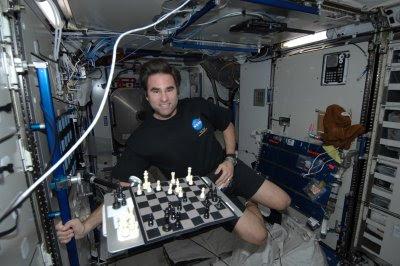 partie d'échecs dans l'espace