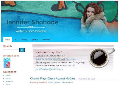 le site d'échecs de Jennyfer Shahade