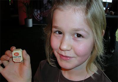 Signe Carlsen, la petite soeur de Magnus du haut de ses 11 ans - photo ChessBase
