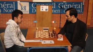 Echecs à Fourmies : Kazhgaleyev - Shirazi lors de la ronde 3