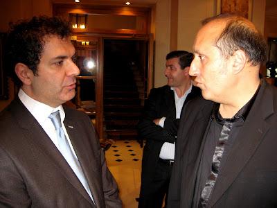 L'organisateur Vartan Kaprielian et Jean-Claude Moingt© Chess & Strategy