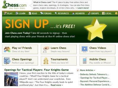 Jouez aux échecs en ligne avec Chess.com