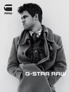 Echecs & Publicité : Magnus Carlsen en G-Star © Anton Corbijn
