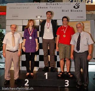 Echecs à Bienne : le podium du tournoi de Maîtres