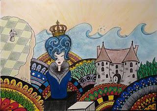 L'artiste plasticienne Lili'$ a réalisé l'affiche du Festival, intitulée La Reine