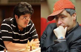 Echecs au Cap d'Agde : Nakamura-Ivanchuk