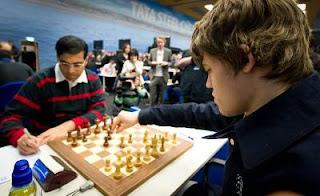 Echecs au Pays-Bas : Magnus Carlsen - Vishy Anand © photo Fred Lucas