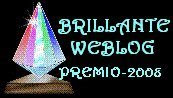 Premio Honorifico Brillante Weblog 2008