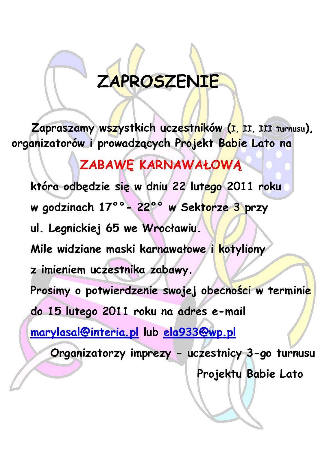 Zaproszenie Jak Napisać Ndl47 Usafrica