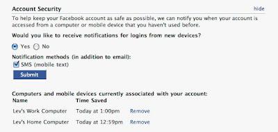 Facebook Anti-Hackers Tool