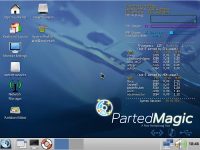 Parted Magic 5.8 can run from RAM