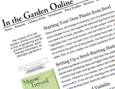 In the Garden Online, Colleen Vanderlinded, Garden Blogger