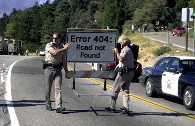 Error 404 : Road Not Found