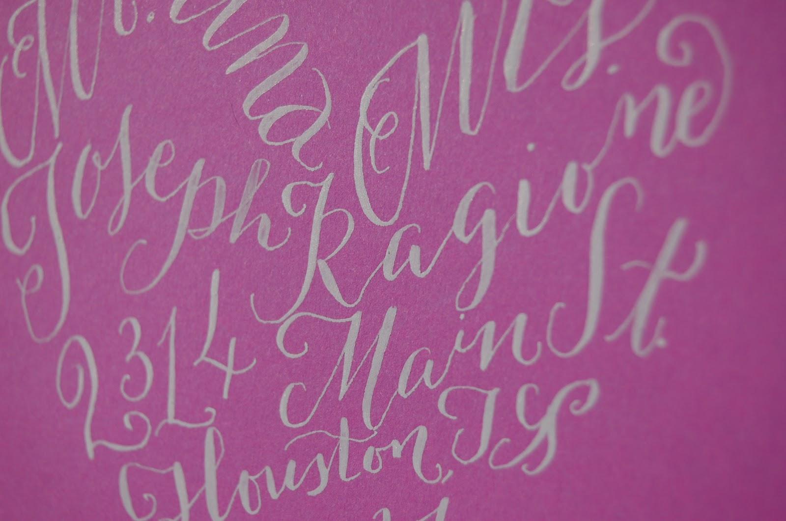 Dancing Pen Calligraphy Heart Calligraphy Envelopes