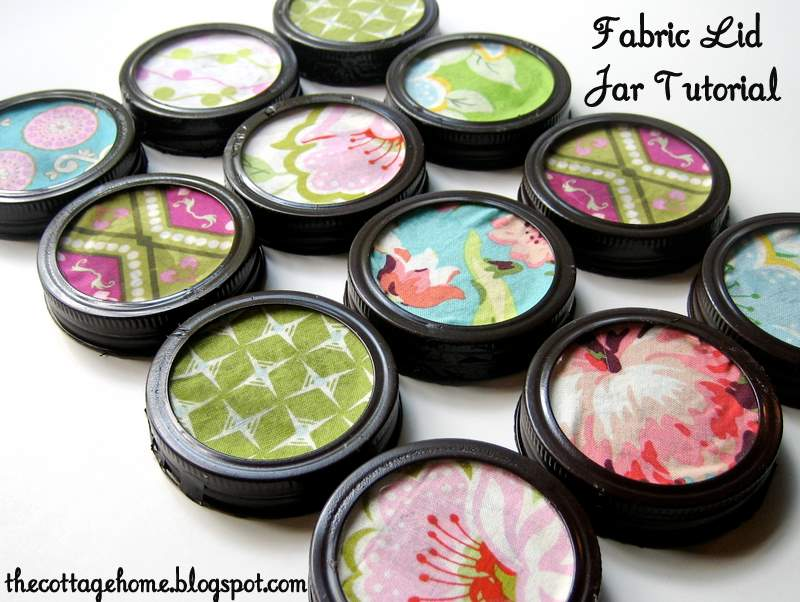 craft room organization fabric lid jar tutorial the cottage mama