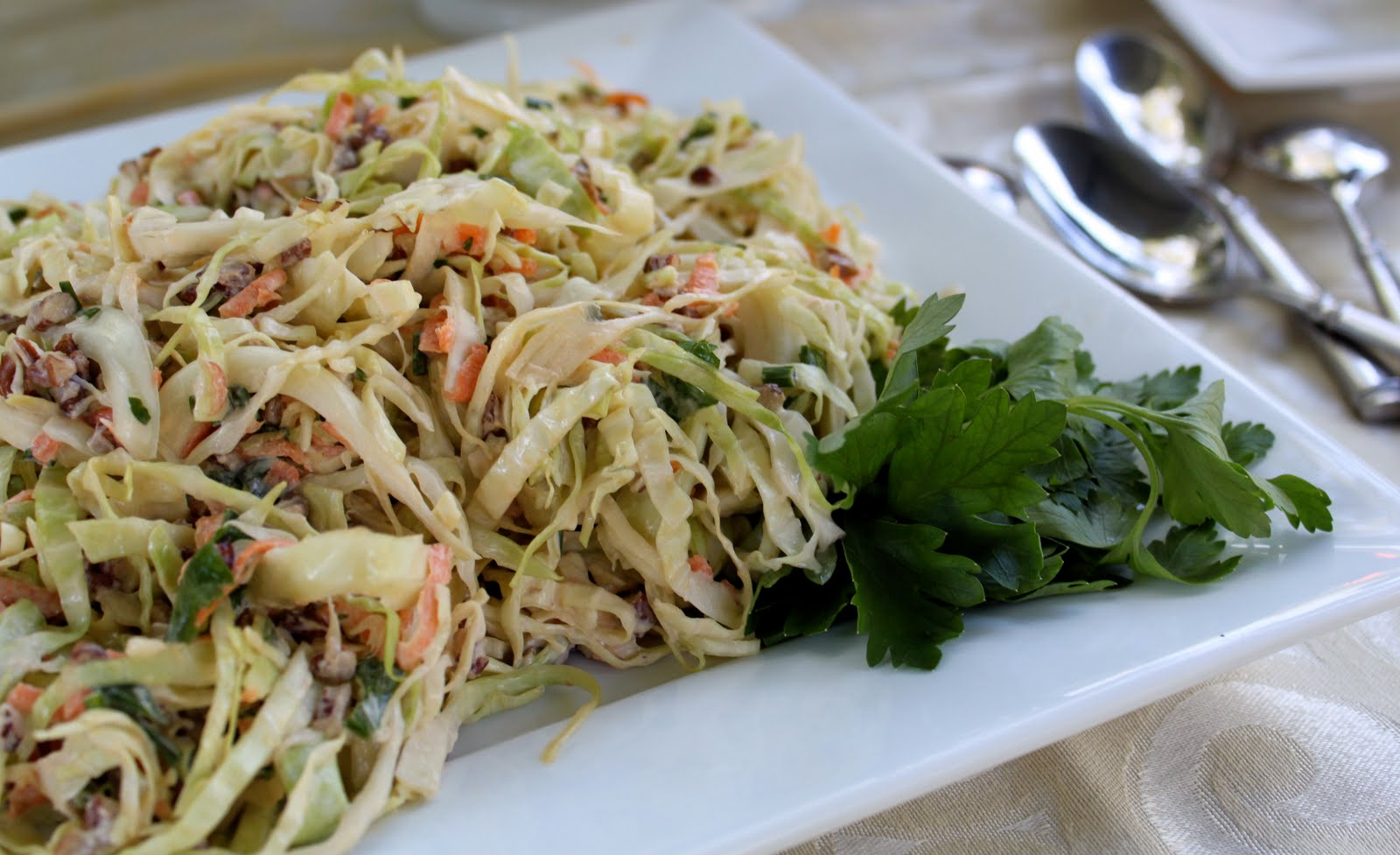 Maple Pecan Coleslaw - The Cottage Mama
