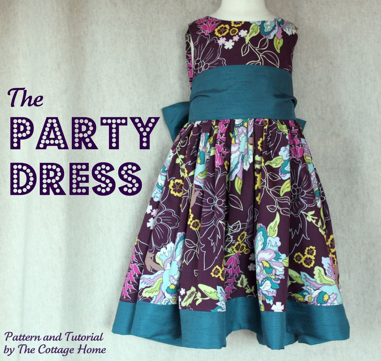 The Party Dress - Printable Pattern and Tutorial - The Cottage Mama