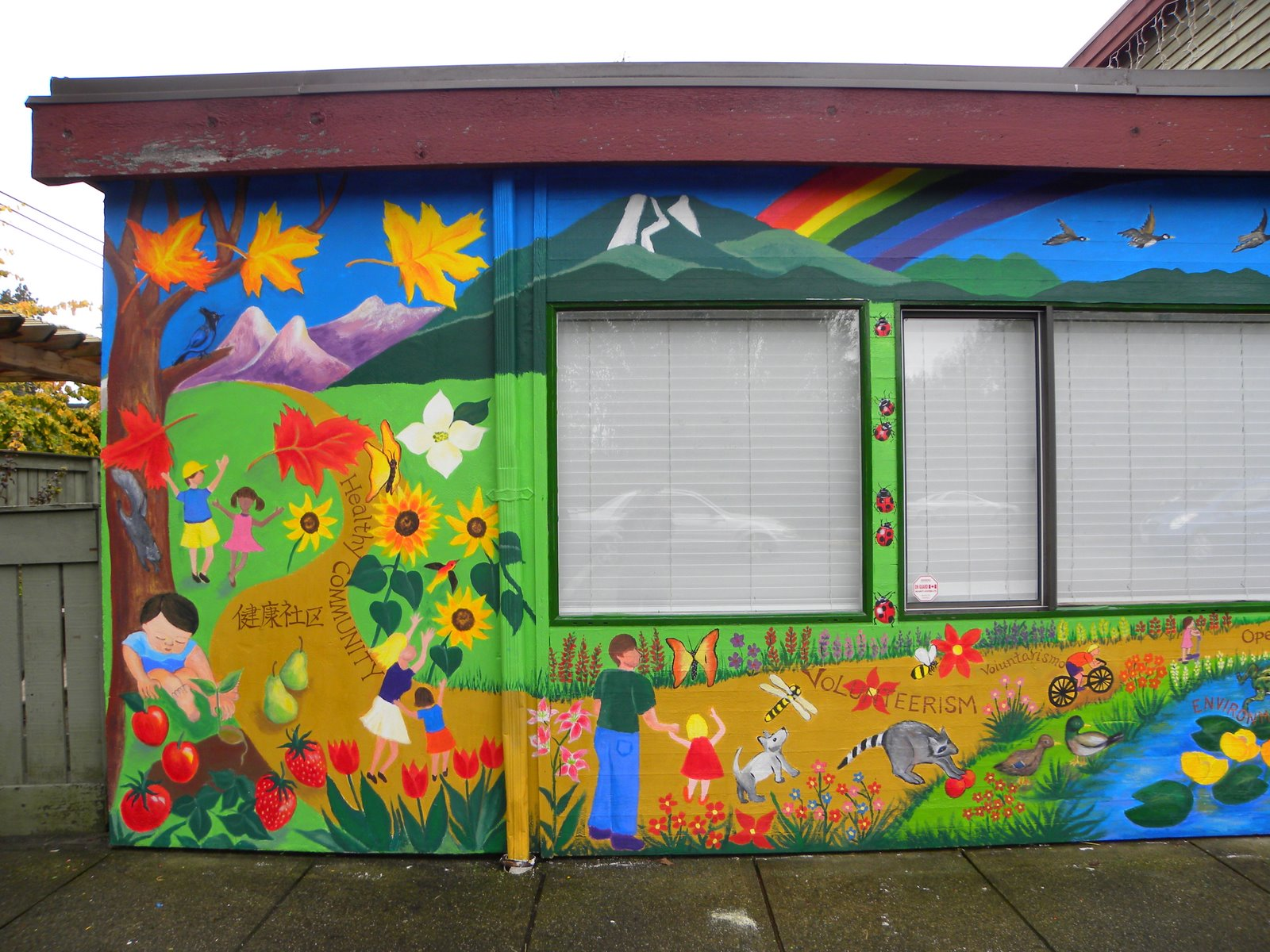 Yoko 39 s art works frog hollow neighbourhood house mural for Community mural project
