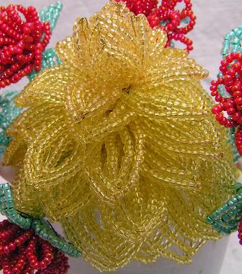цветы из бисера на проволоке схемы.