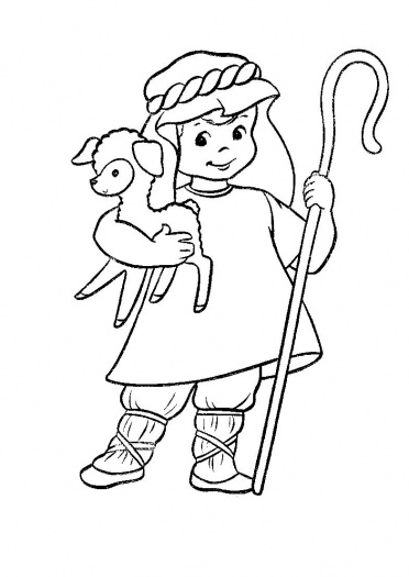Hugs and keepsakes heavenly tickles for Coloring pages sheep and the shepherd